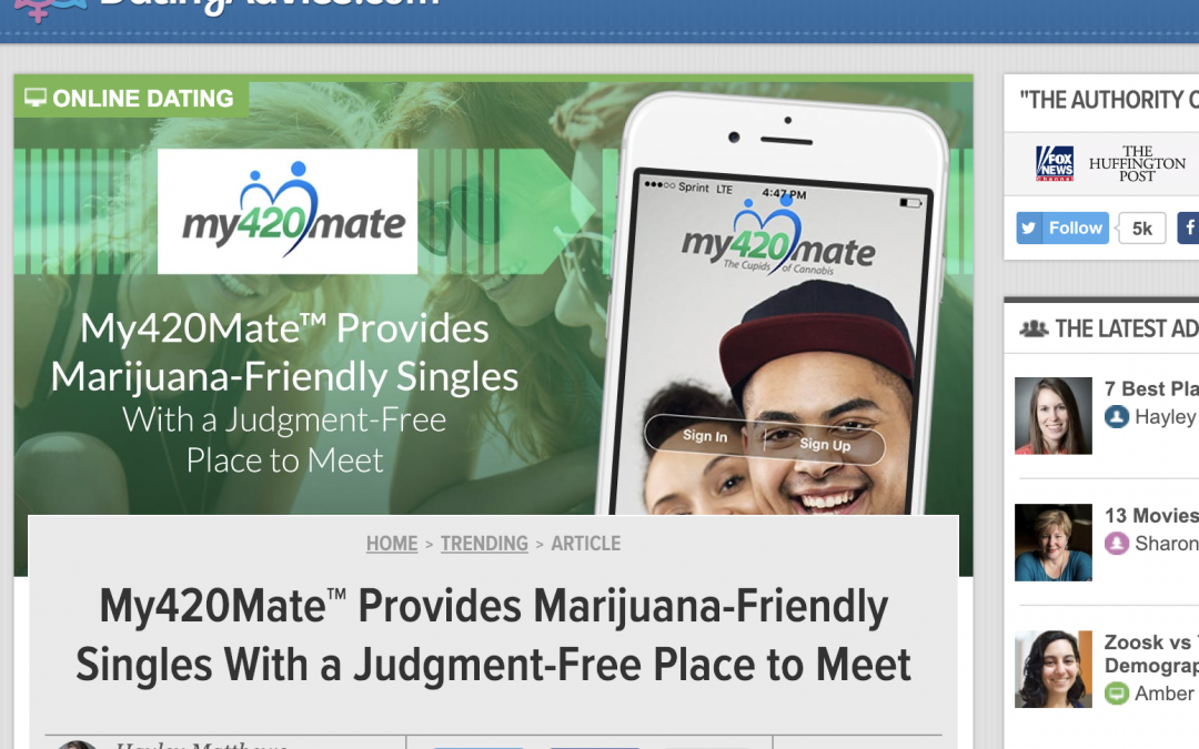 My420Mate Feature on DatingAdvice.com